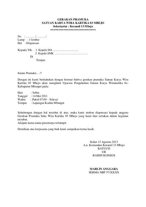 Télécharger Contoh Surat Dispensasi Kuliah Karena Kegiatan