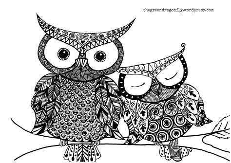 Difficult Owl Coloring Pages Hard