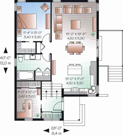contoh denah rumah  tata ruang desain rumah moderns