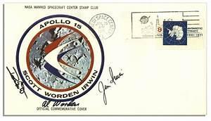 Apollo 15 Crew-Signed, NASA-Issued Astronaut Cover | eBay