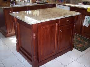 kitchen island with posts classic kitchen remodel using osborne islander legs osborne wood