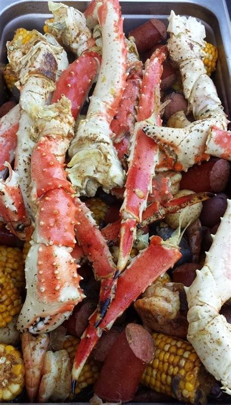 boil king crab legs king crab shrimp boil we out did ourselves here king crab legs prawns smoked sausages
