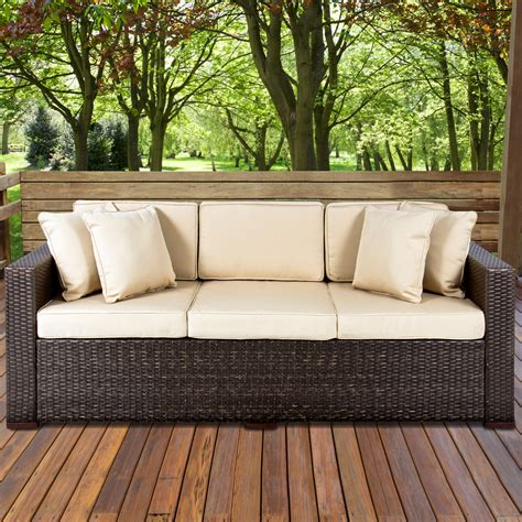 how to buy wicker garden furniture on a budget out out outdoor wicker patio furniture sofa 3 seater luxury