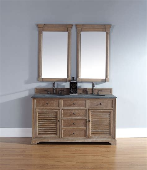 double sink bathroom vanity  driftwood finish uvjmf