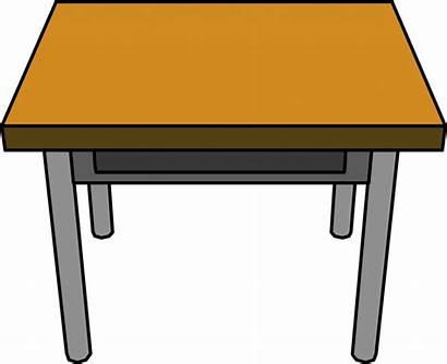 Clipart Table Student Desk Clip Desks Transparent
