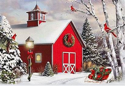 Christmas Merry Winter Animated Scenes Cards Card