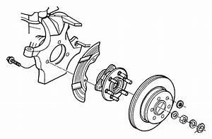 Dodge Dakota Axle Hub Mounting Bolt  2wd  4wd