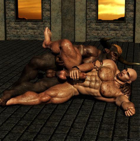 rule 34 abs anal anal sex anthro balls biceps black howler bovine cum gay hair horn human