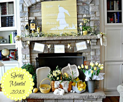 Here Comes Peter Cottontail {spring Mantel}