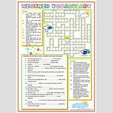 Weather Vocabulary Worksheet  Free Esl Printable Worksheets Made By Teachers