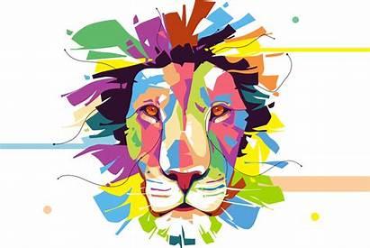 Lion Colorful Corel