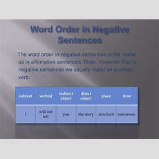 Word Order In Sentences Academichelpnet