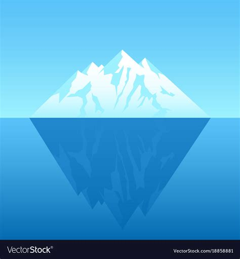 Free Vector Picture by An Iceberg Royalty Free Vector Image Vectorstock