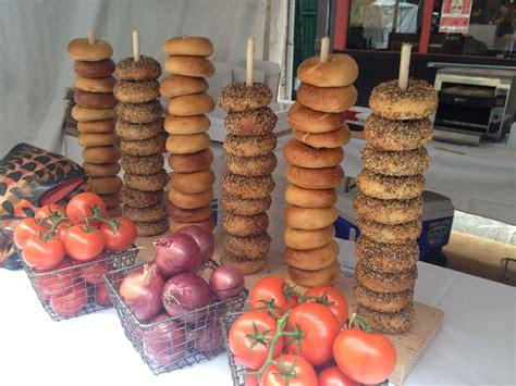 crafted bagel pretzel stand by m karl llc custommade com