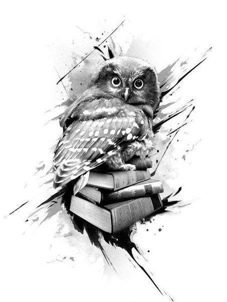 Owl tattoo image by Rod on Art | Book tattoo, Owl tattoo
