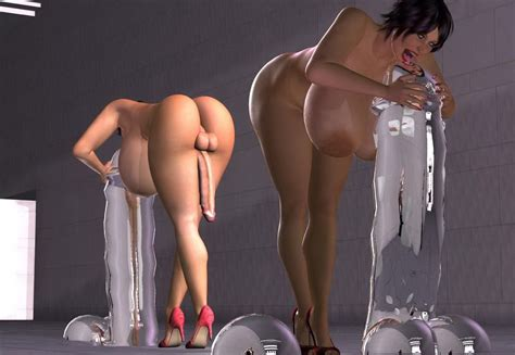 Big Tits Shemale Exposing Her Naked Figure In Dance Action Cartoon Porn Videos