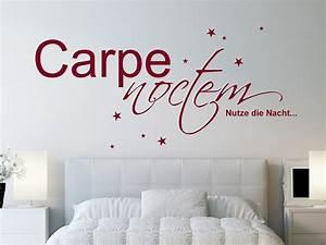 Wandtattoo Carpe Noctem : wandtattoo carpe noctem mit sternen bei ~ Sanjose-hotels-ca.com Haus und Dekorationen
