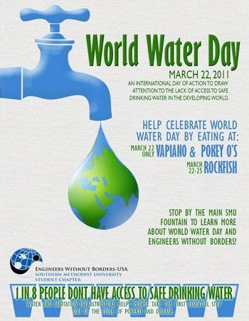 world water day  smu poster   water day safe