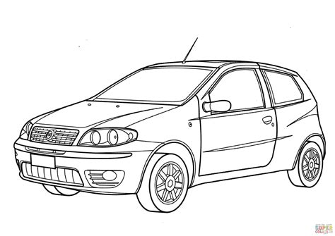 Fiat Panda Kleurplaat by Fiat Punto Coloring Page Free Printable Coloring Pages