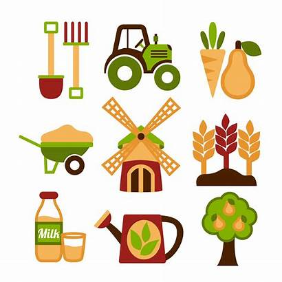 Agriculture Farming Icons Vector Harvesting Icon Farm