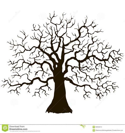 arbre sans silhouette de feuilles illustration de vecteur