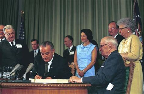johnson lyndon  johnson signing  medicare bill