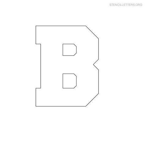 Block Letter Template Free by Free Printable Block Letter Stencils Stencil Letters B