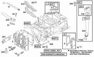 Briggs And Stratton 12b800 Series Parts List And Diagram   Ereplacementparts Com