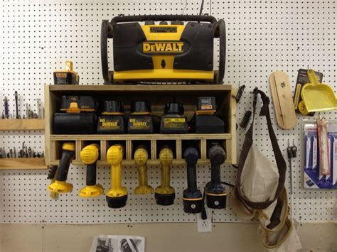 Cordless drill station   Projects   Pinterest   Cordless