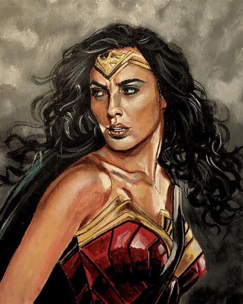 Wonder Woman Painting By Joel Tesch