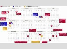 CALENDARIO laboral MADRID 2018 con todos los FESTIVOS