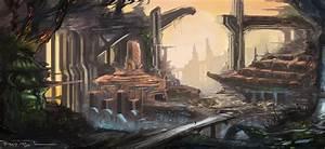 Landscape - Sci-fi Mining Facility by H4V0K1407 on DeviantArt