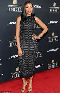 Unique Red Carpet Dresses by Taraji P Henson Dazzles In Bodycon Dress At Nfl Honors