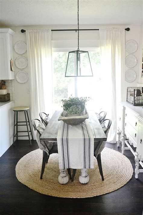 Alter the amount of space between photos in a balanced fashion, so your wall has. Dining Room Plate Wall   Farmhouse dining room table, Dining room wall decor, Dining room table ...