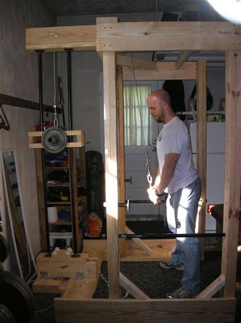 diy power rack diy power rack with lat pulldown things to build