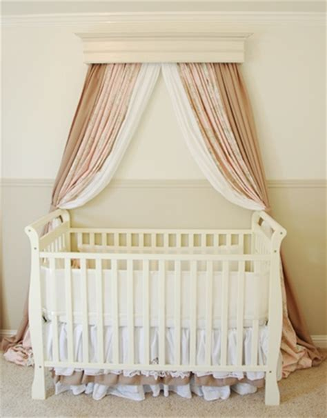 Crib Drapes - how to create a bed crown makely school for