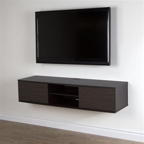 wall mounted furniture furniture wooden floating wall mounted media cabinet with storage and open shelf added with