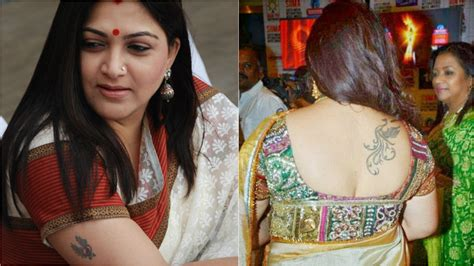 south indian actresses  impressive body tattoos
