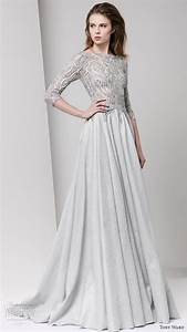 Tony ward fall 2016 ready to wear dresses wedding for Gray dresses for wedding