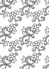 Coloring Pattern Floral Printable Dot Adults Categories sketch template