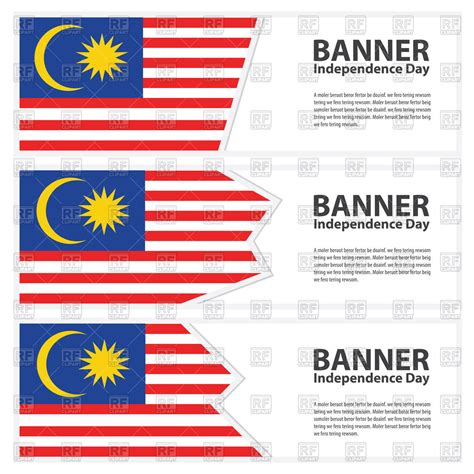 bid malaysia malaysia flag banners vector illustration of design