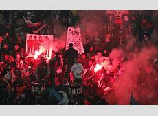PSG braced for fine from UEFA for fans' behaviour against