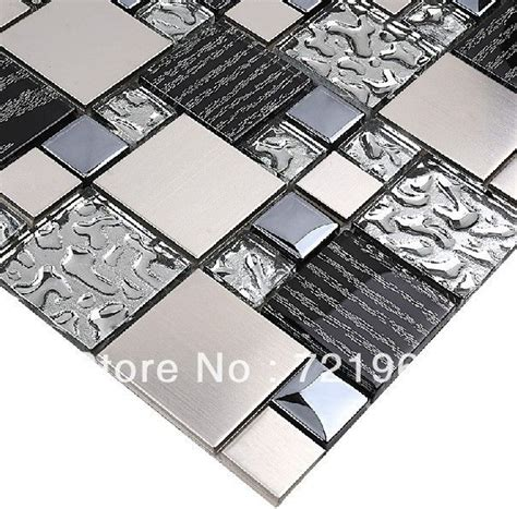 Kitchen Metal Wall Uk by Silver Metal Mosaic Stainless Steel Tile Kitchen