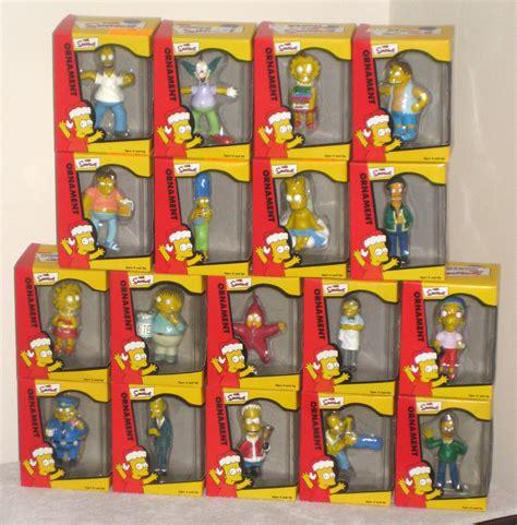 simpsons christmas ornaments with store display homer nelson burns ralph moe milhouse barney krusty