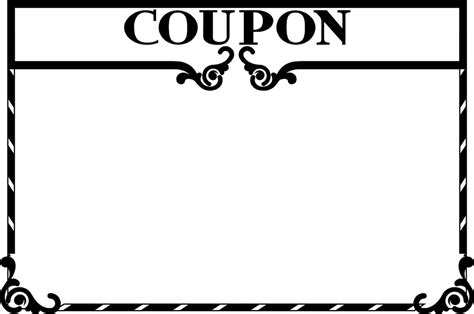 blank coupon template coupon free stock photo illustration of a blank coupon frame 3086