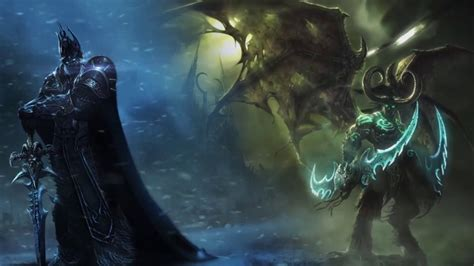 Animated Lich King Wallpaper - lich king and illidan animated wallpaper