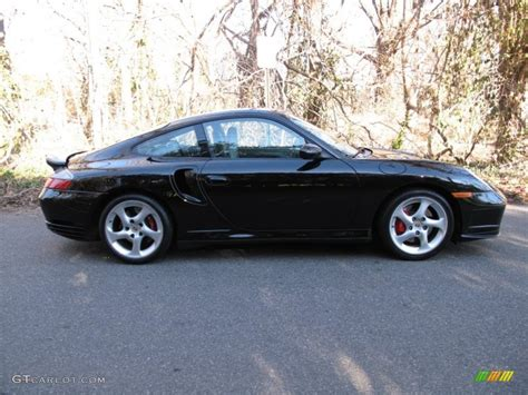 black porsche 911 turbo black 2001 porsche 911 turbo coupe exterior photo