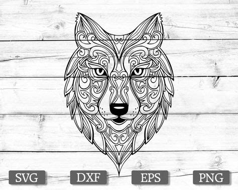 Zentangle wolf vector, wolf clipart png included, for personal & commercial use. Free 3D Svg Files For Cricut - Layered SVG Cut File