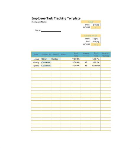 task tracking template   word excel  format