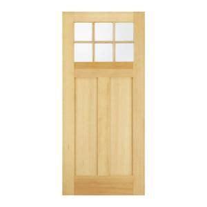 exterior wood door slab jeld wen craftsman 6 lite unfinished hemlock slab entry